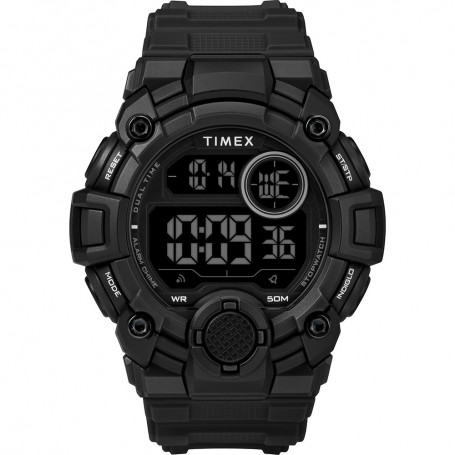 Timex Mens A-Game DGTL 50mm Watch - Black