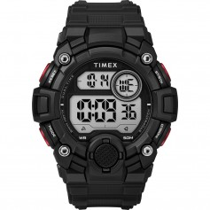 Timex Mens A-Game DGTL 50mm Watch - Black-Red