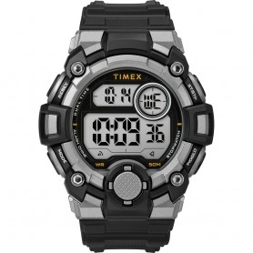 Timex Mens A-Game DGTL 50mm Watch - Black-Grey