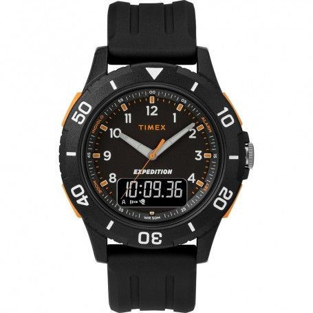 Timex Expedition Katmai Combo 40mm Watch - Black Case- Dial Strap