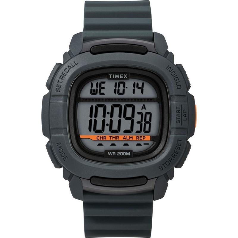 Timex DGTL BST-47 Boost Shock Watch - Grey-Orange