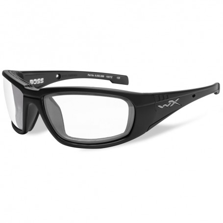Wiley X Boss Sunglasses - Clear Lens - Matte Black Frame