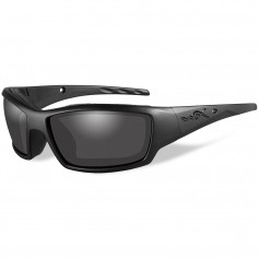 Wiley X Tide Black Ops Sunglasses - Smoke Grey Lens - Matte Black Frame