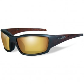 Wiley X Tide Polarized Venice Sunglasses - Gold Mirror Lens - Matte Brown Frame