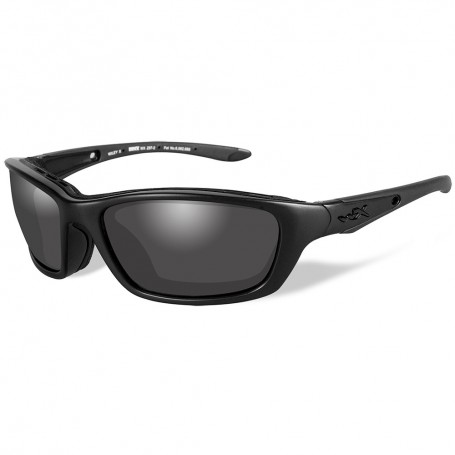 Wiley X Brick Black Ops Sunglasses - Smoke Grey Lens - Matte Black Frame