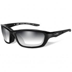 Wiley X Brick LA Sunglasses - Smoke Grey Lens - Gloss Black Frame