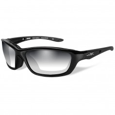 Wiley X Brick LA Sunglasses - Smoke Grey Lens - Gloss Black Frame