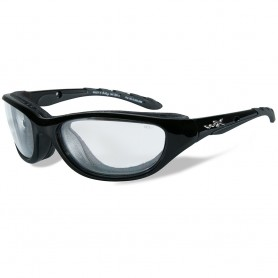 Wiley X Airrage Sunglasses - Clear Lens - Gloss Black Frame