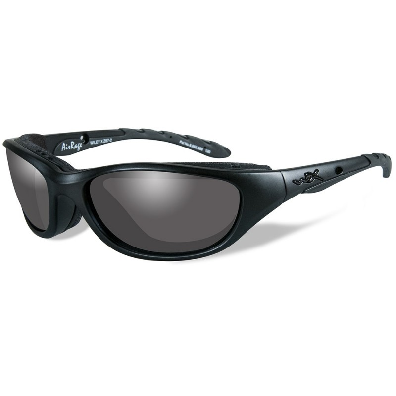 Wiley X Airrage Black Ops Sunglasses - Smoke Grey Lens - Matte Black Frame