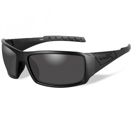 Wiley X Twisted Black Ops Polarized Sunglasses - Smoke Grey Lens - Matte Black Frame