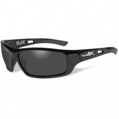 Wiley X Slay Polarized Sunglasses - Smoke Grey Lens - Gloss Black Frame