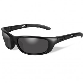 Wiley X P-17 Black Ops Sunglasses - Smoke Grey Lens - Matte Black Frame