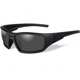 Wiley X Censor Black Ops Polarized Sunglasses - Smoke Grey Lens - Matte Black Frame