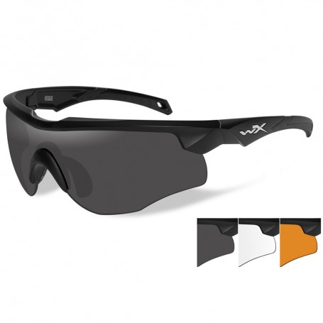 Wiley X Rogue Sunglasses - Grey-Clear-Rust Lens - Matte Black Frame