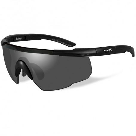 Wiley X Saber Advanced Sunglasses - Smoke Grey Lens - Matte Black Frame