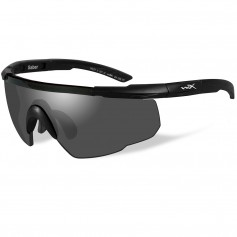 Wiley X Saber Advanced Sunglasses - Smoke Grey Lens - Matte Black Frame