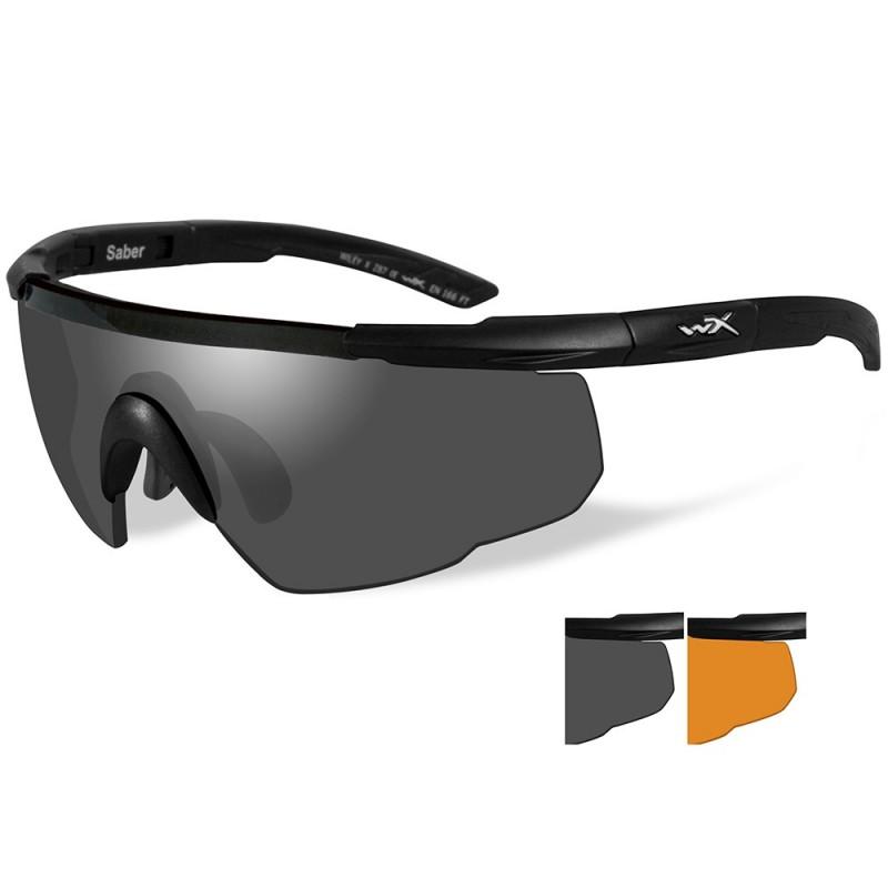 Wiley X Saber Advanced Sunglasses - Smoke Grey-Rust Lens - Matte Black Frame