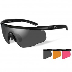 Wiley X Saber Advanced Sunglasses - Smoke Grey-Light Rust-Vermillion Lens - Matte Black Frame