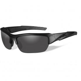 Wiley X Valor Black Ops Sunglasses - Smoke Grey Lens - Matte Black Frame
