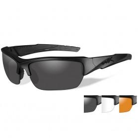 Wiley X Valor Sunglasses - Smoke Grey-Clear-Rust Lens - Matte Black Frame