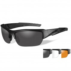 Wiley X Valor Sunglasses - Smoke Grey-Clear-Rust Lens - Matte Black Frame