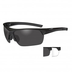 Wiley X Guard Advanced Sunglasses - Smoke Grey-Clear Lens - Matte Black Frame