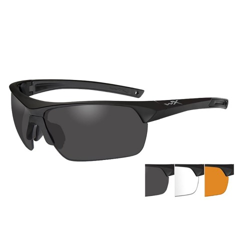 Wiley X Guard Advanced Sunglasses - Smoke Grey-Clear-Rust Lens - Matte Black Frame