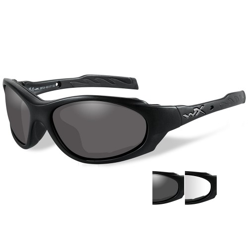 Wiley X XL-1 Advanced Sunglasses - Smoke Grey-Clear Lens - Matte Black Frame
