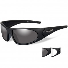 Wiley X Romer 3 Sunglasses - Smoke Grey-Clear Lens - Matte Black Frame