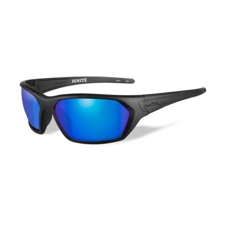 Wiley X Ignite Sunglasses - Polarized Blue Mirror Lens - Matte Black Frame