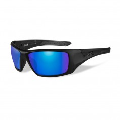 Wiley X Nash Sunglasses - Polarized Blue Mirror Lens - Matte Black Frame