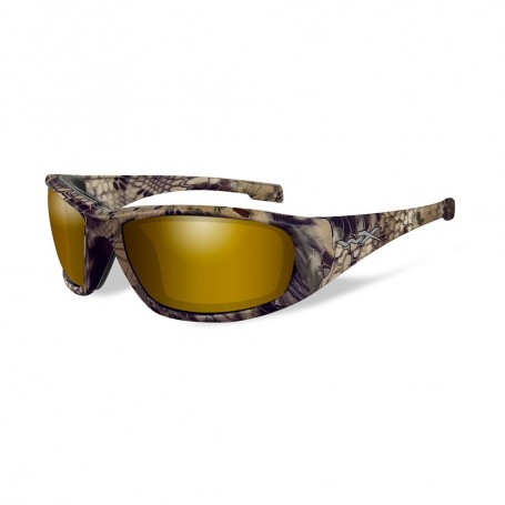 Wiley X Boss Sunglasses - Polarized Venice Gold Mirror Lens - Kryptek Highlander Frame