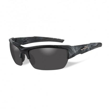Wiley X Valor Sunglasses - Polarized Smoke Grey Lens - Kryptek Typhon Frame
