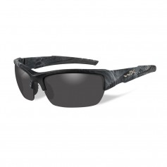 Wiley X Valor Sunglasses - Polarized Smoke Grey Lens - Kryptek Typhon Frame