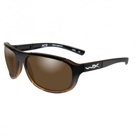 Wiley X Ace Polarized Sunglasses - Bronze Lens - Gloss Tortoise Fade Frame