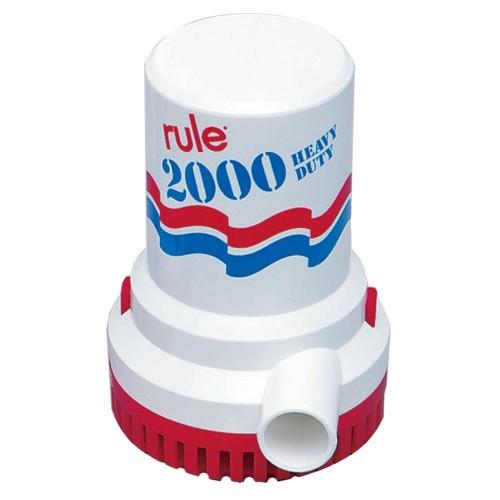 Rule 2000 GPH Non-Automatic Bilge Pump w-6- Leads