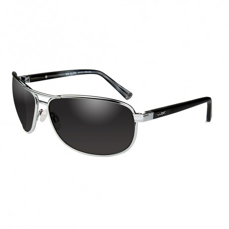 Wiley X Klein Sunglasses - Smoke Grey Lens - Silver Frame