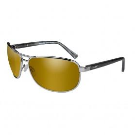 Wiley X Klein Sunglasses - Polarized Venice Gold Mirror Amber Lens - Matte Gunmetal Frame