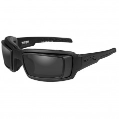 Wiley X Titan Sunglasses - Smoke Grey Lens - Matte Black Frame w-Rx Rim