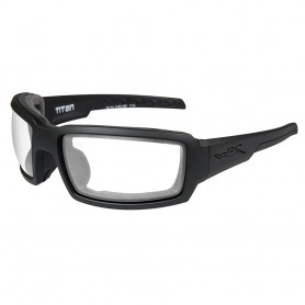 Wiley X Titan Sunglasses - Clear Lens - Matte Black Frame