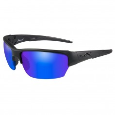 Wiley X Saint Sunglasses - Polarized Blue Mirror Lens - Matte Black Frame