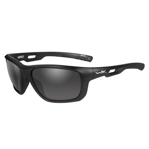 Wiley X Aspect Sunglasses - Grey Lens - Matte Black Frame