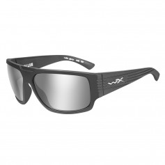 Wiley X Vallus Sunglasses - Grey Silver Flash Lens - Matte Graphite Frame