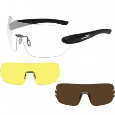 Wiley X Detection Sunglasses - Clear- Yellow Copper Lens - Matte Black Frame