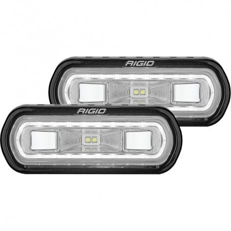 RIGID Industries SR-L Series Surface Mount Spreader Light - Black Housing - White Halo