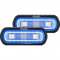 RIGID Industries SR-L Series Surface Mount Spreader Light - Black Housing - Blue Halo