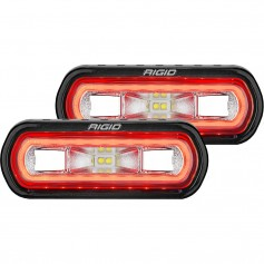 RIGID Industries SR-L Series Surface Mount Spreader Light - Black Housing - Red Halo