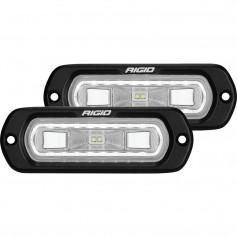 RIGID Industries SR-L Series Flush Mount Spreader Light - Black Housing - White Halo