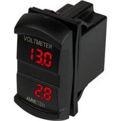 Sea-Dog Dual Volt-Amp Meter Rocker Style Switch