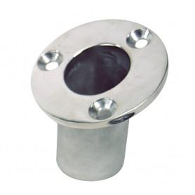 Sea-Dog Flush Mount Flagpole Socket - 25 - 1-1-4- ID - 316 Stainless Steel